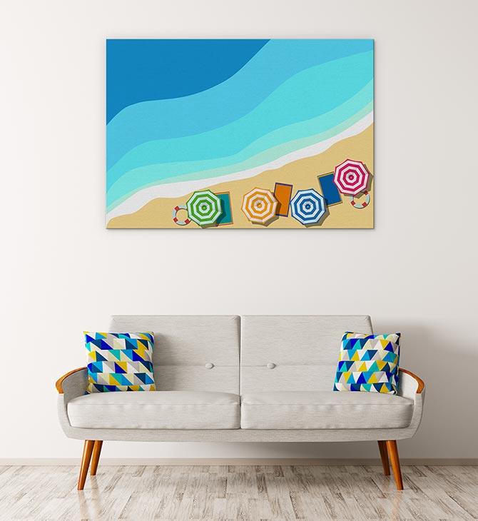 Water art and beach art