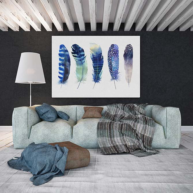 Watercolour Painting Ideas - Feather
