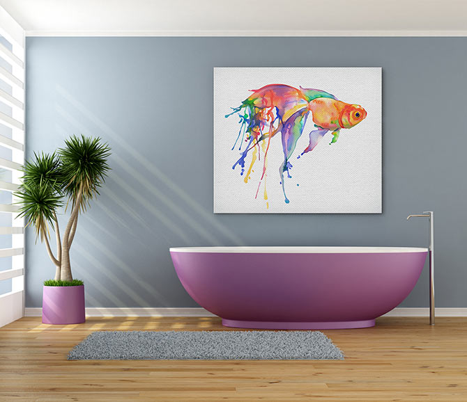 Watercolour Painting Ideas - Fish