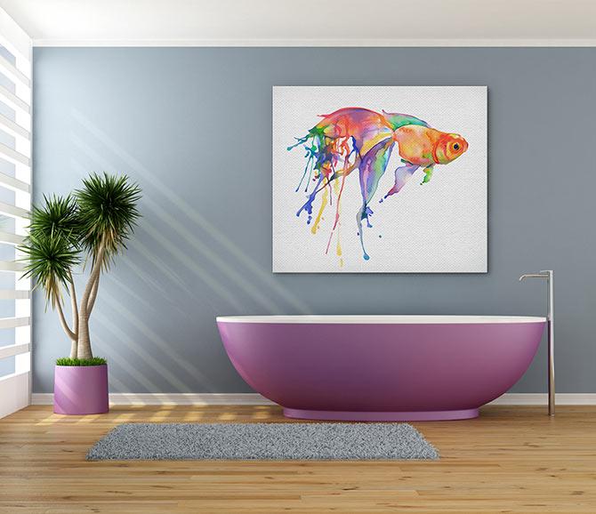 Watercolour Painting Ideas - Fish