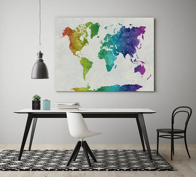 Watercolour Painting Ideas - Map