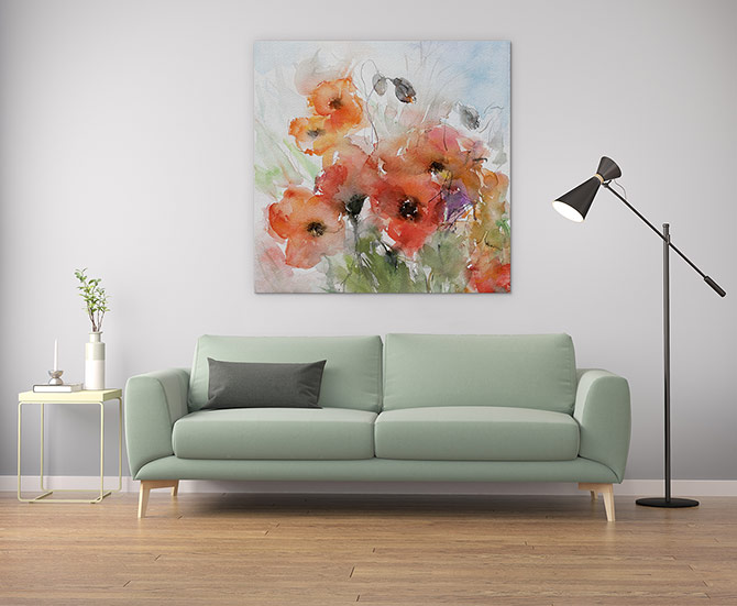 Watercolour Painting Ideas - Poppies