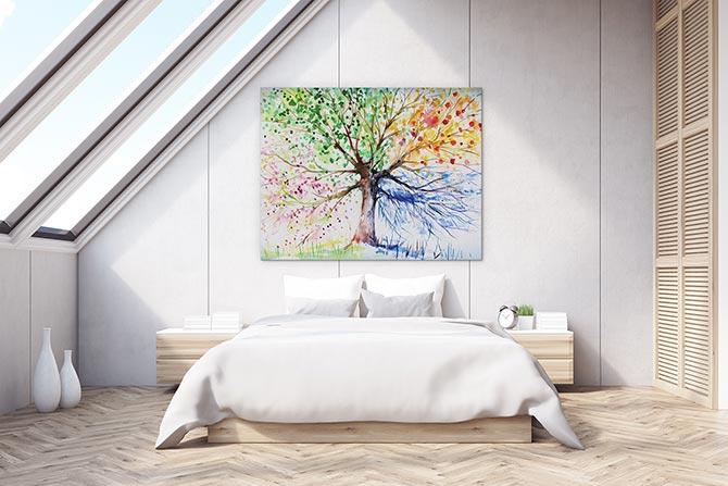 Watercolour Painting Ideas - Tree
