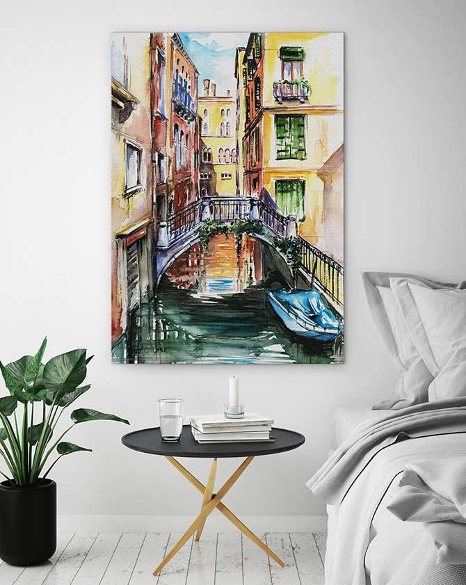 Italian Art - Canal