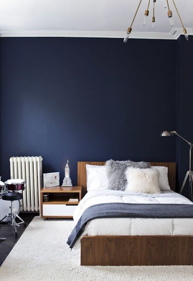 Room Design Ideas - Blue and Timber