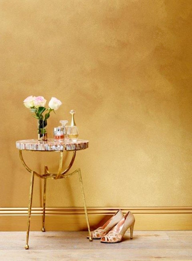 Room Design Ideas - Gold Wall