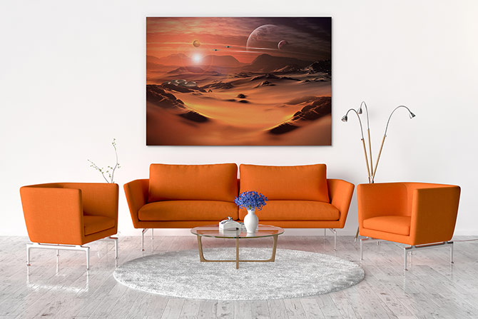 Digital Painting - Red Planet