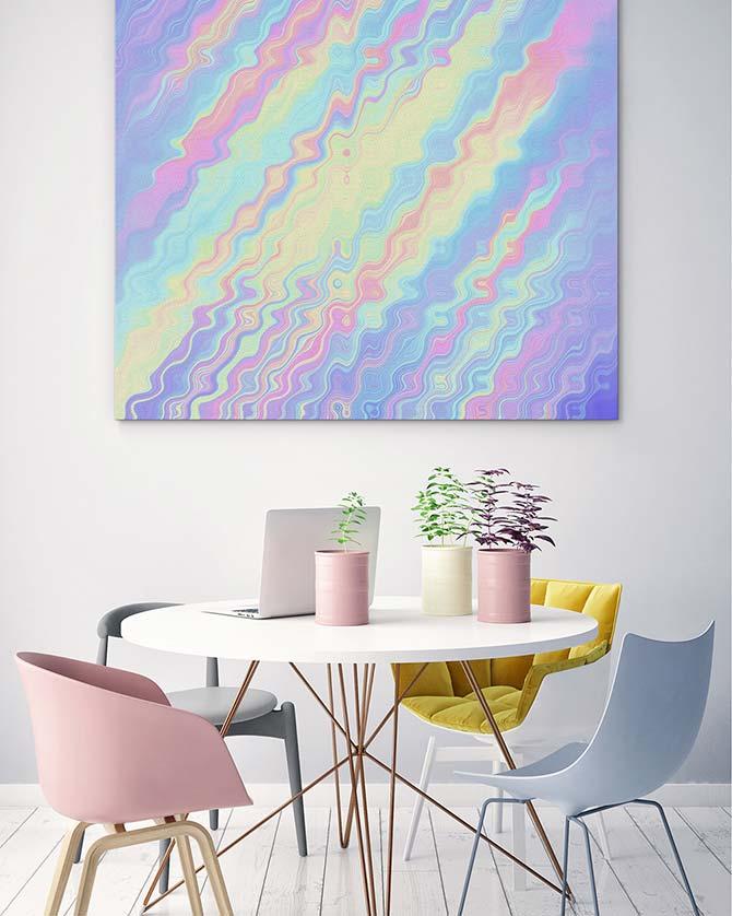 Pastel Art - Waves