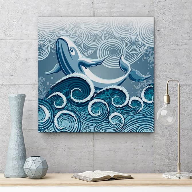 波浪艺术 - 鲸鱼