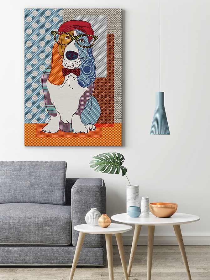 Dog Art - Basset