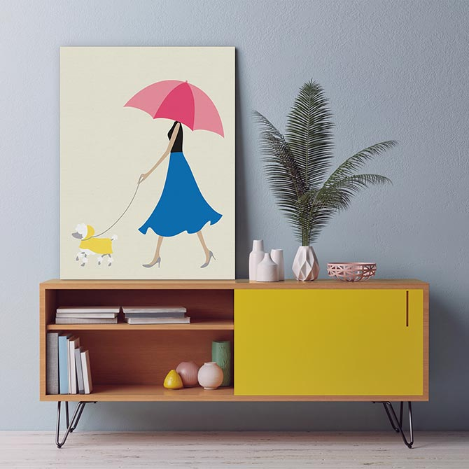 Dog Art - Rain