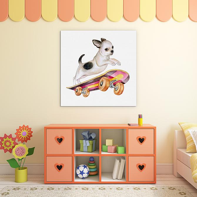 Dog Art - Skateboard
