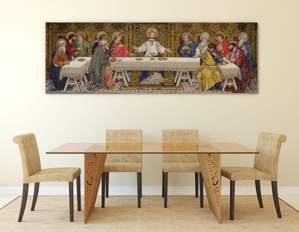 The Last Supper is one of the most famous pieces of easter art