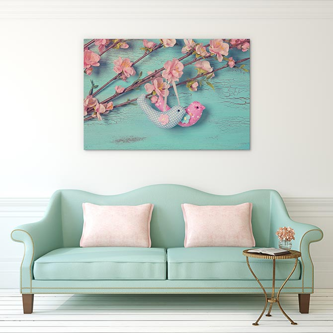 This two birds print makes an excellent Easter art gift