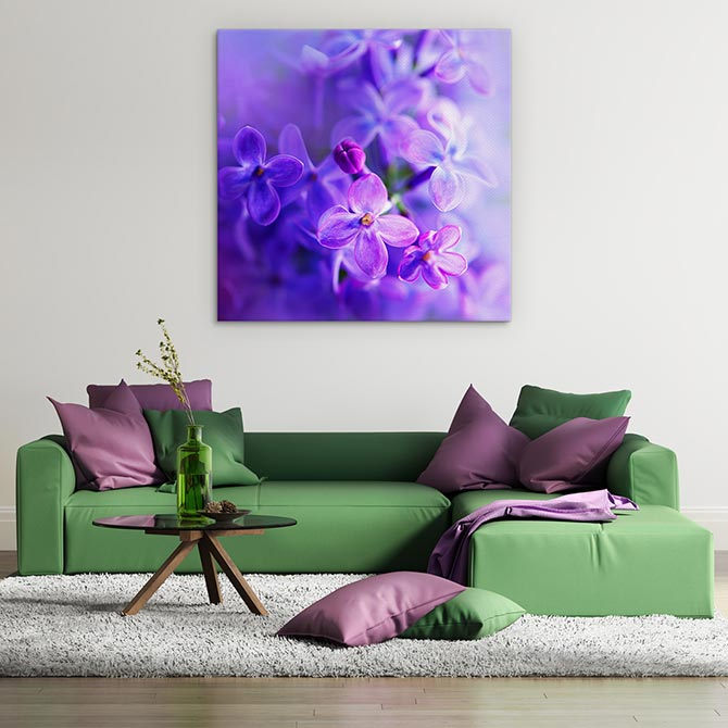 Easter art - a bunch of purple violets