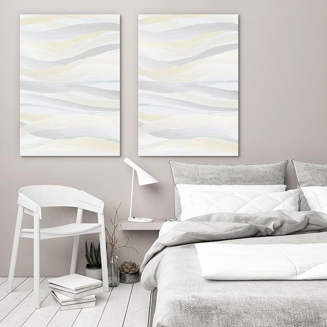 modern Scandi decor for the master bedroom