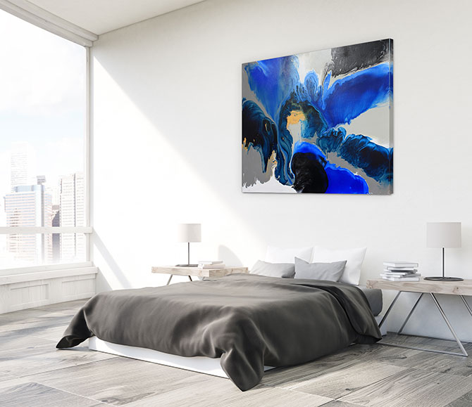 statement art for master bedroom design