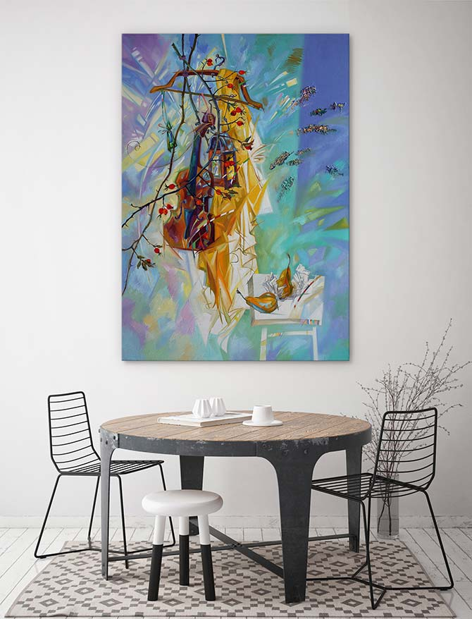 large wall art for dining room