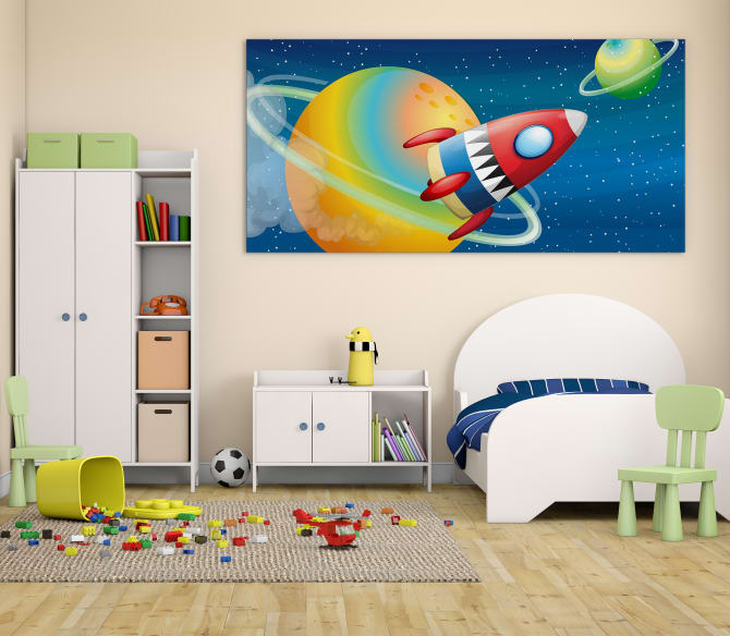 large wall art for kids