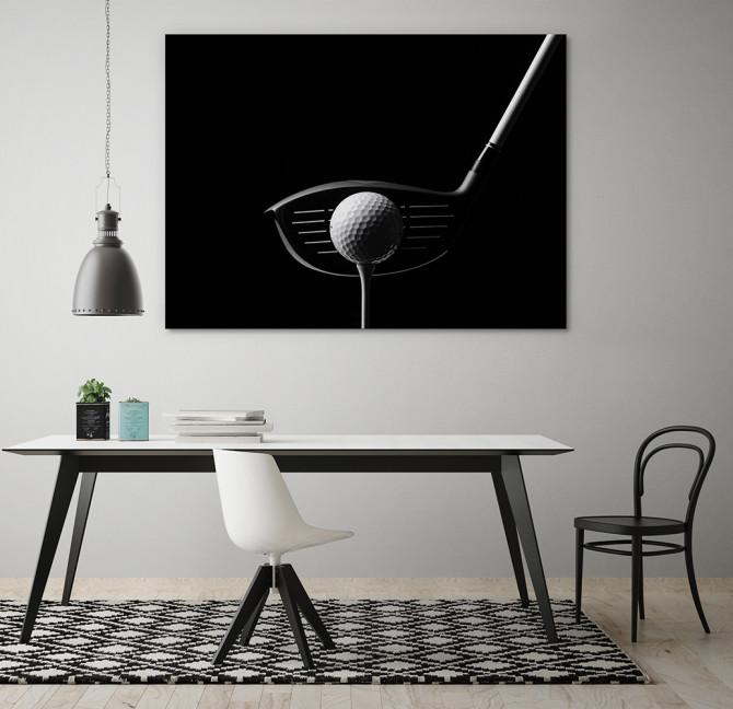 monochrome photography golf