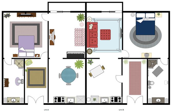SmartDraw interior design apps