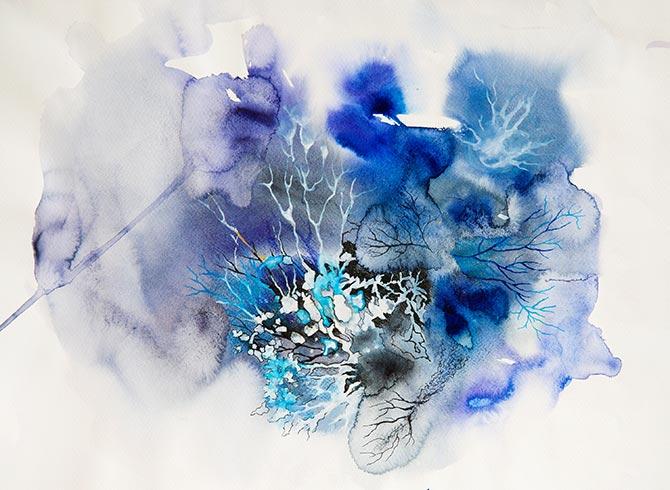 popular prints in blue