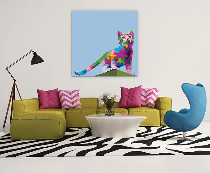 cat art or your living room