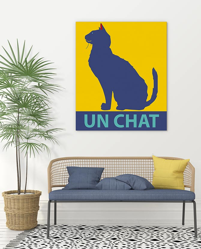 cat art for the home