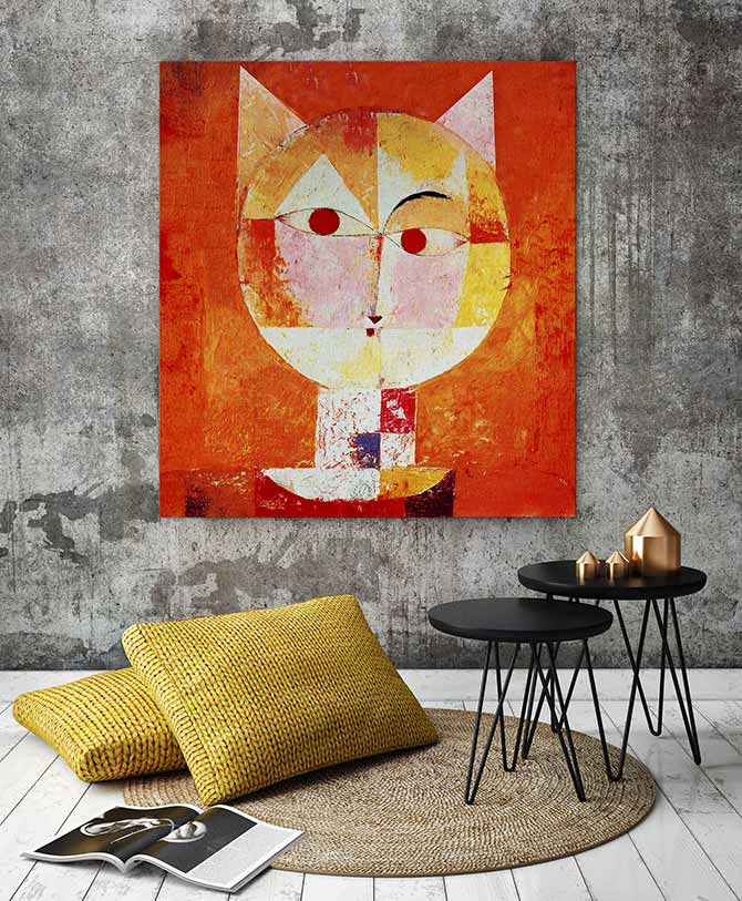 modern cat art