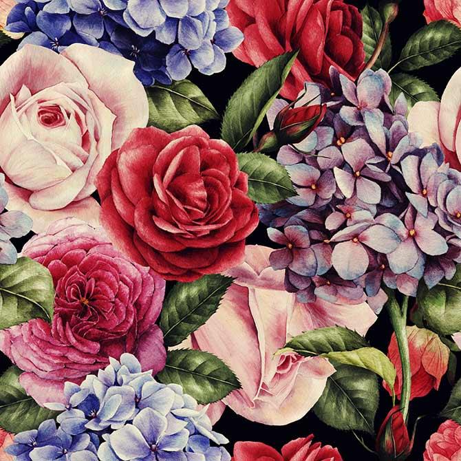 interior colour schemes with florals