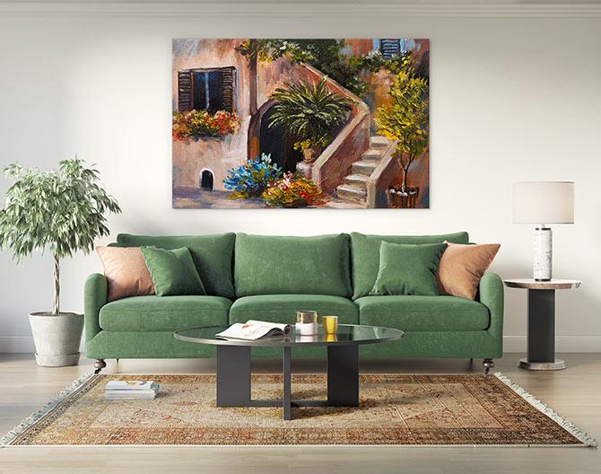 interior colour schemes and artwork