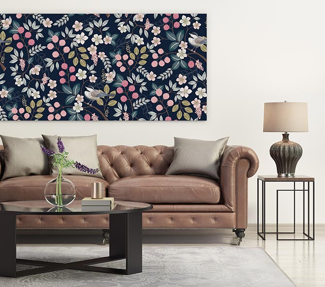 floral patterns and furniture that matches