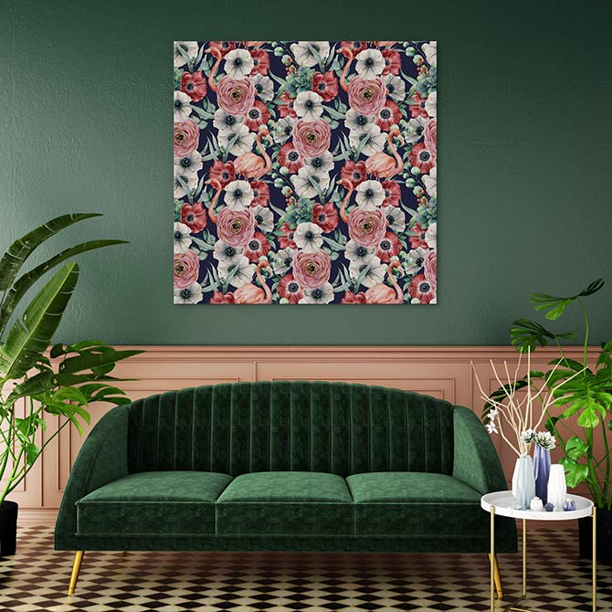 floral patterns in art deco style