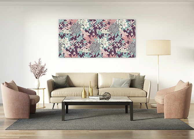 floral patterns at home