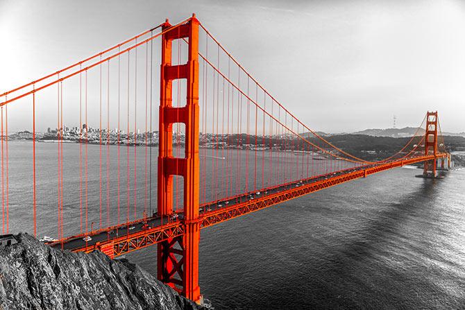 着名的地标金门大桥