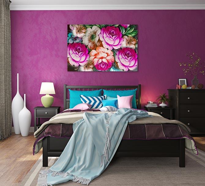 maximalism bedroom