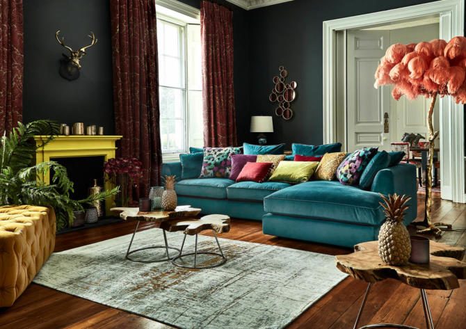 maximalism decor in the living room